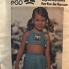 Butterick 4279 Sew & Go Girls/Childs Shorts and top Sewing Pattern Size 4