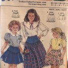 Burda 5478 Child's skirt pattern in 2 lengths, elastic waist sewing pattern sizes 3-10