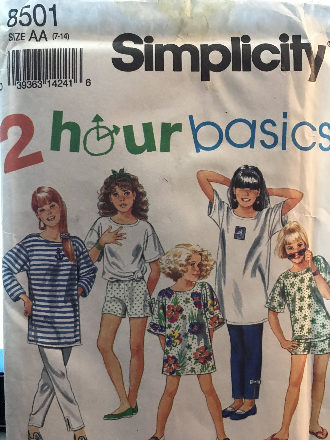 Simplicity 8501 T-shirts, shorts and Pants Easy Sewing Pattern Size 7-14