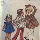 Simplicity 5819 Child's Dress or Tunic and Panties Sewing Pattern Size 5