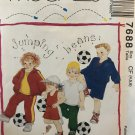 McCALLS 7688 Childs Jacket T-shirt Top Pants & Shorts Sewing Pattern Size 4-5-6
