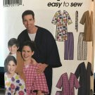 Simplicity 9834 Robe and pants for the whole family XS - XL Sewing Pattern