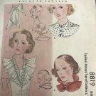 McCall 8819; ca. 1936; Ladies' & Misses' Set of Collars & Vestee Sewing Pattern