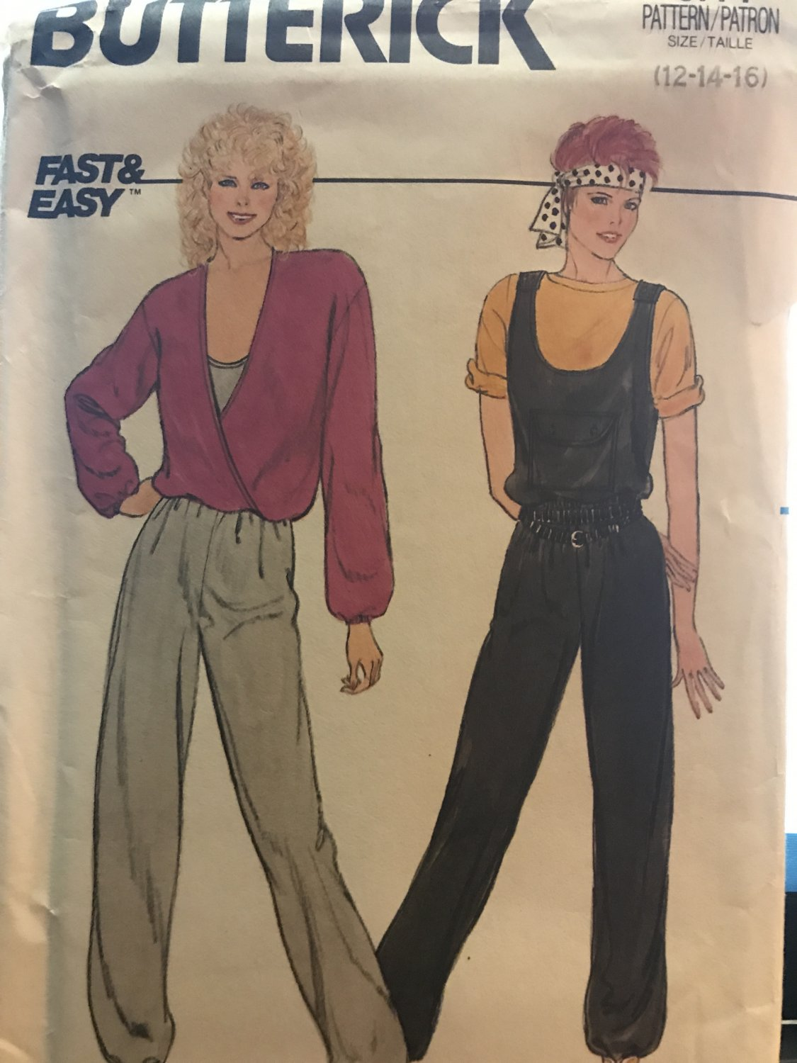 Butterick 6771 Misses' top and jumpsuit Sewing Pattern size 12 14 16