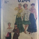 Simplicity 8244 Misses' Blouse, Skirt in Two Lengths, Apron and Sash Sewing Pattern Size 14