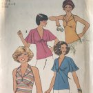 Simplicity 8030 Halter Top Flare Sleeve Top Sewing Pattern Size 6-8 Uncut from 1977