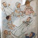 Simplicity 6072 Baby's Wardrobe Bonnet, Dress, Petticoat, Romper and Coat  size 6mo