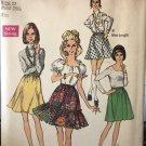 """Simplicity 8595 Misses' Set of Skirts in Two Lengths Size 12 Waist 25 1/2"""" from 1969"""