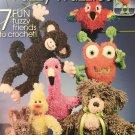 Annie's Attic Crochet Fuzzy Wuzzie Animals 7 designs 873714