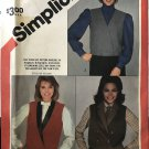Simplicity 6109 Overnight success Lined Vests with Collar Variations Size 6 8 10 Sewing Pattern