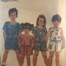 Simplicity 8443 Child's Top in Two Lengths and Shorts sewing pattern size 5 - 6X