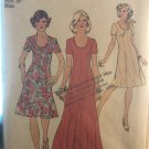 Simplicity 6334 Misses' long or short swirl dress with princess seaming Sewing Pattern Size 14