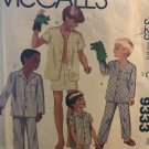 McCall's 9333 Boys Pajamas Size Medium 10- 12 Sewing Pattern