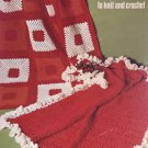 Leisure Arts More Afghans To Knit and Crochet 4 designs Leaflet 34