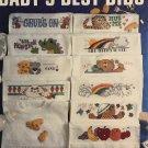 Baby's Best Bibs Leisure Arts 2464 Cross Stitch Pattern 24 bib designs by Linda Gillum
