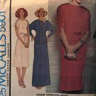 McCall's 5901 Misses Dolman Sleeve Dress and Jacket Sewing Pattern Size Med (14-16) Bust 36 38