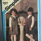 Simplicity Florence Eiseman Pattern 6607 Girls Jumper with Patterns for Applique Included Size 5