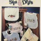 Stoney Creek Collection Sips & Drips Baby Bib designs Leaflet 68 Cross stitch pattern