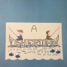 Cross Stitch Chart Fisherman Homestead Designs cross stitch pattern Fishing