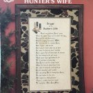 Prayer of a Hunter's Wife cross stitch pattern Hunting sampler Annie & Friends