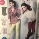 McCall's 6604 Misses' Blouse Tops Sewing Pattern size 6 to 14