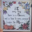 Just Cross Stitch To Every Thing There is A Season Cathy Livingston  pattern #417