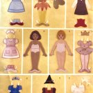 Butterick 3280 Fabric Paper doll and Clothes Sewing Pattern
