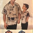 Butterick 5602 Father and Son Shirt Sewing Pattern all sizes