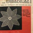 Workbasket Magazine June 1958 Vintage Patterns Flower Doily Tatted Doily Pot holders