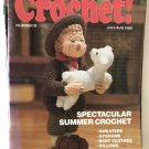 Hooked on Crochet No. 10 July/Aug 1988 Sweaters Afghans Baby Clothes Pillows