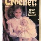 Hooked on Crochet No. 1 Jan/Feb 1987 Baby Sweater & Hat, mittens, doily