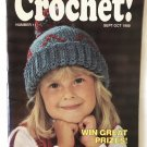 Hooked on Crochet No. 11 Sept/Oct 1988 baby hat, afghan, wreath, pillow