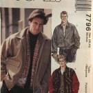 McCalls 7796 Mens Bomber Jacket Pattern - Lined / Patch or Welt Pockets Size Medium 38 - 40