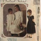 McCall's 4638 Special Moments Girl's Dress Sewing Pattern Size 7 8 10