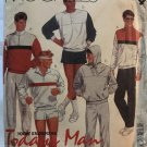McCall's 2714 Men's Tops, Pants and Shorts Jogging suit Sewing Pattern Size extra large