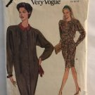 Misses' Dress Sewing Pattern Vogue 8170 SIze 14 16 18 Loose fitting tapered dress