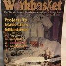 Workbasket Magazine January 1995 Vintage patterns Knit Rudolph, Crochet Santa, Christening gown