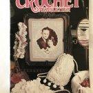 Annie's Crochet Newsletter No. 45 toys, garter, slippers, vest, wreath and bib