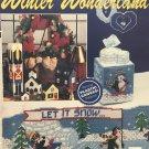 The Needlecraft Shop 903302 Winter Wonderland Penguins Plastic Canvas Wreath Toy Soldier