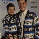 Red Heart booklet 1426 Family Fashions to knit Sweater Patterns