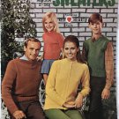 Coats & Clark book 186 Classic Sweaters Sizes 2-50 crochet & knit pattern For the Family