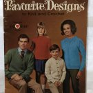 Coats & Clark book 198 Favorite Designs to crochet & knit pattern Sweaters for the Family