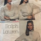 Ralph Lauren Vogue Sewing Pattern American Designers 2363 Blouse