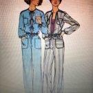 """Butterick 4790 Misses Zip Front JUMPSUIT Sewing Pattern Size 10 Bust 32 1/2"""" Waist 25"""" Hip 34 1/2"""""""
