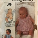 Simplicity 8047 Babies' One-Piece Lined Suit Sewing Pattern Newborn