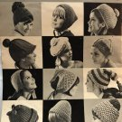 Hits in Hats to knit and crochet pattern book. Vol. 92, 19-pages. Fleisher, Bear Brand, Botany