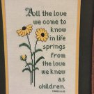 All the love we come to know in life cross stitch by pat waters  Chart/Pattern