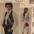 McCall's 5003 women's V neck vest sewing pattern, size medium 14 16