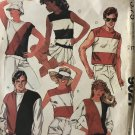 "McCall's 9027 Mens' and Women's Knit Tops T-shirt sewing pattern, size Large, 40""-42"" chest"