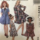 McCall's 5829 Girls dress with or without collar sewing pattern, size 10 12 14